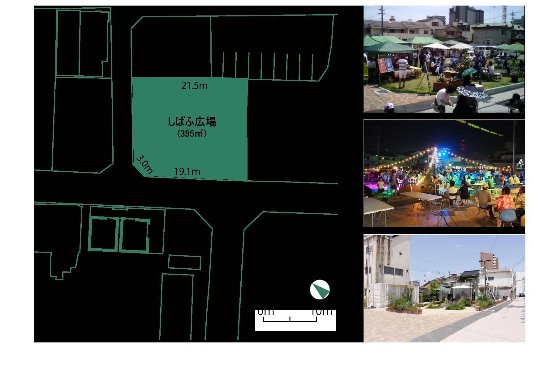 イベント広場の配置図